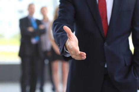 business consultant handshake