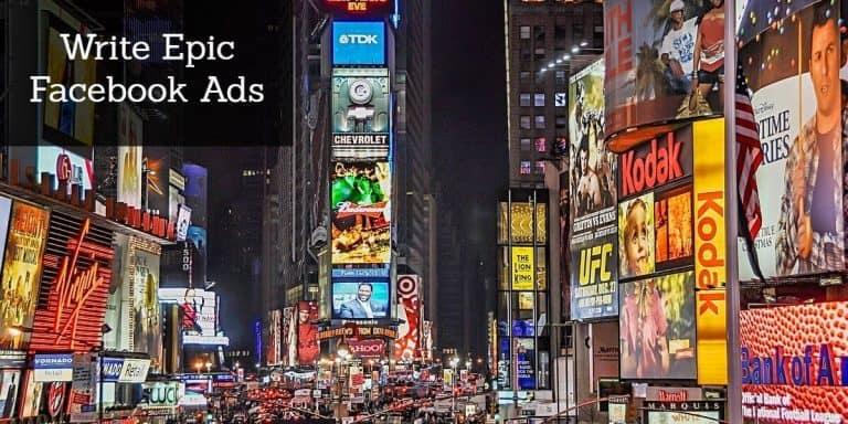 write epic facebook ads